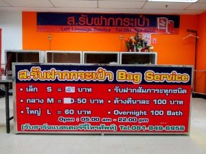 Left luggage service available at the bus station
