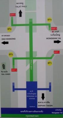 map of the BTS walk way exits