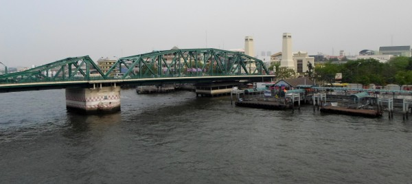 Photo of the Memorial Bridge on the Chaopraya river in Bangkok