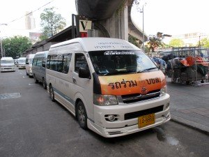 Minibus for Ayutthaya at Victory Monument