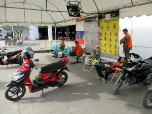 Motorbike Taxi stand at Sai Tai Mai