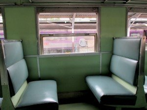 Typical ordinary train seats in 3rd class