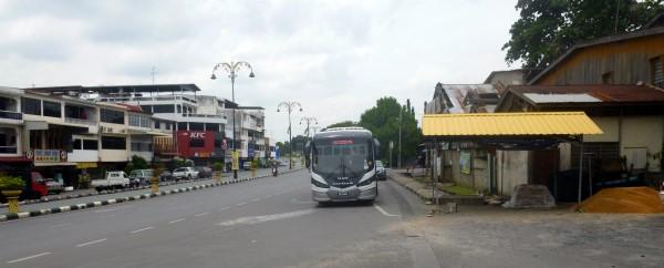 Padang Besar to Kangar Bus at the bus stop in Padang Besar