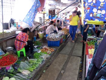 Photo of the Market stalls on the railway tracks
