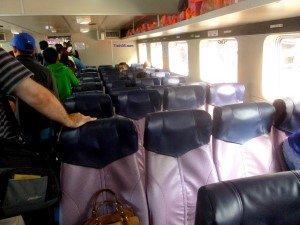 Seats on the Kuala Kedah Langkawi Ferry