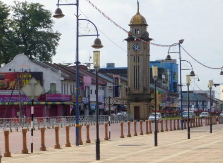 photo of the main street and clock tower in Sungai Petani Malaysia