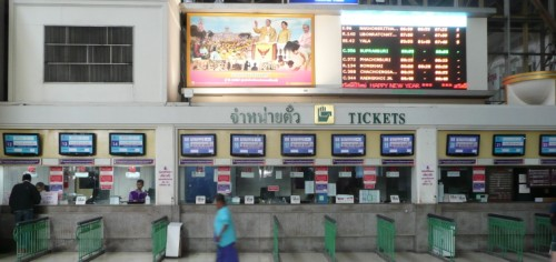 Ticket counters at Hua Lamphong Station Bangkok