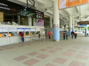 Ticket counters for the Northern provinces (1st floor outside)