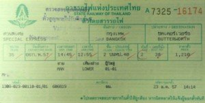 Ticket for train 35