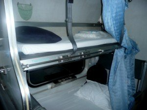 Sleeping Berths on the International Express Train