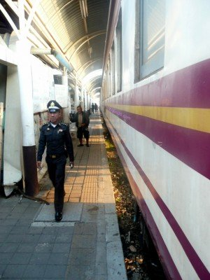 Train at the platform in Bang Sue station 2