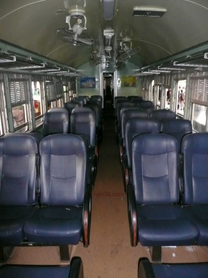 2nd class fan seat railway carriage