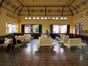 Waiting area at train station
